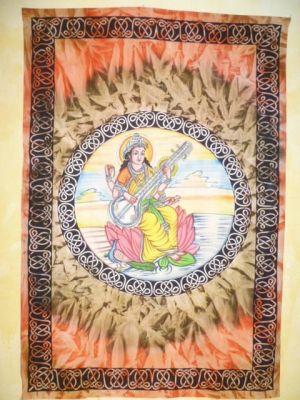 Tagesdecke / Wandbehang Saraswati