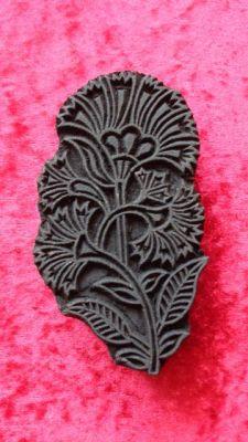 indischer Holzstempel - schöne Blume III