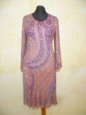 Kleid Meera korall-blau-violett