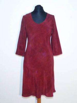 Kleid Meera Crepeseide rostbraun