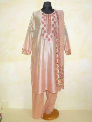 Salwar Kameez in rosa-hellbeige - B-Ware