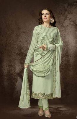 Salwar Kameez Mangala hellgrün - Stoffset / Anfertigung