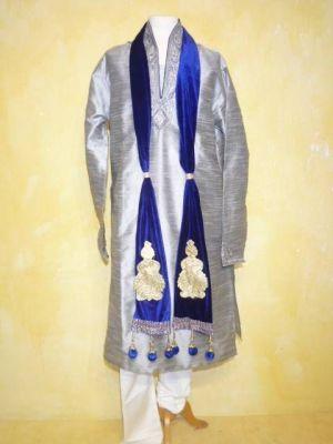 Ausdrucksvoller Schal für Kurta-Pajama-Set - blau