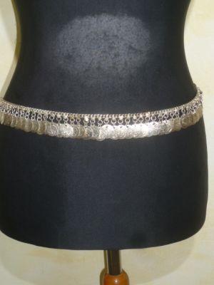Münzgürtel aus silberfarbenem Metall - B-Ware