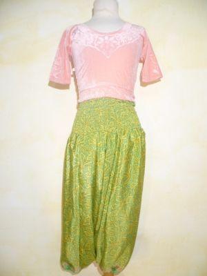 Aladinhose für Kids gelb-grün