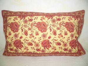 Kissenbezug 40x60 Blumenprint hellgelb mit rot