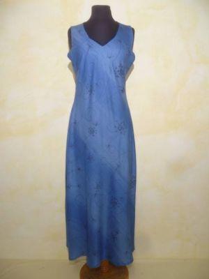 Sommerkleid Meera  blau-hellblau mit zartem Print