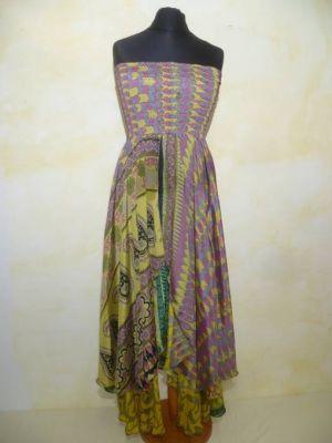 Kleid Tilasmi gelb-magenta
