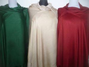 Seide-Viskose Schals I - drei Farben