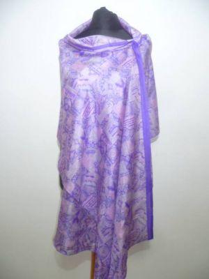 Seidenschal XL flieder-violett II