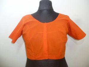 Saribluse Choli  Baumwolle orange