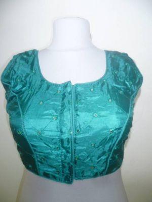 Saribluse Choli smaragdgrün