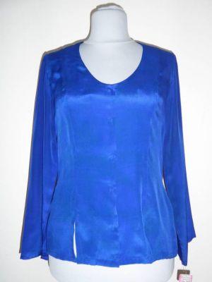 Bluse Caroline Crepeseide blau - M