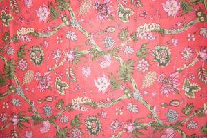 Baumwollstoff Jaipur korall-rot mit Blumenprint