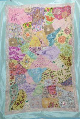 Wandbehang Fine work türkis und pastell-bunt