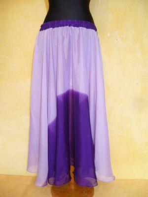 Bauchtanzrock Chiffon flieder-violett