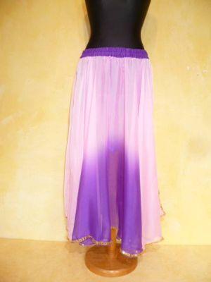 Bauchtanzrock Chiffon violett-rosa