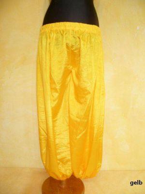 Weite Pumphose aus schimmernder Viskose gelb