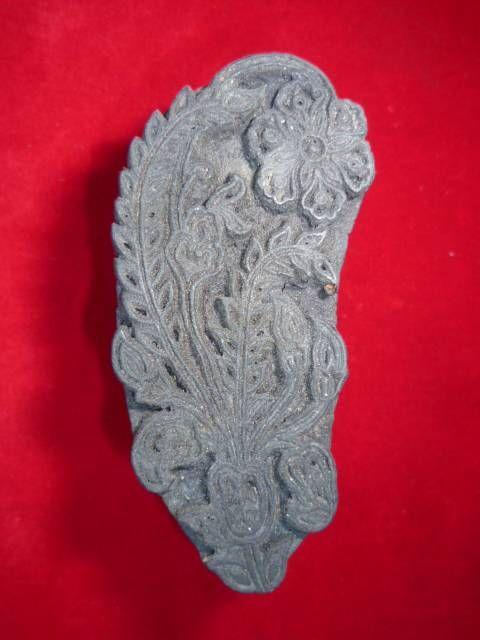 indischer Holzstempel Blume 4