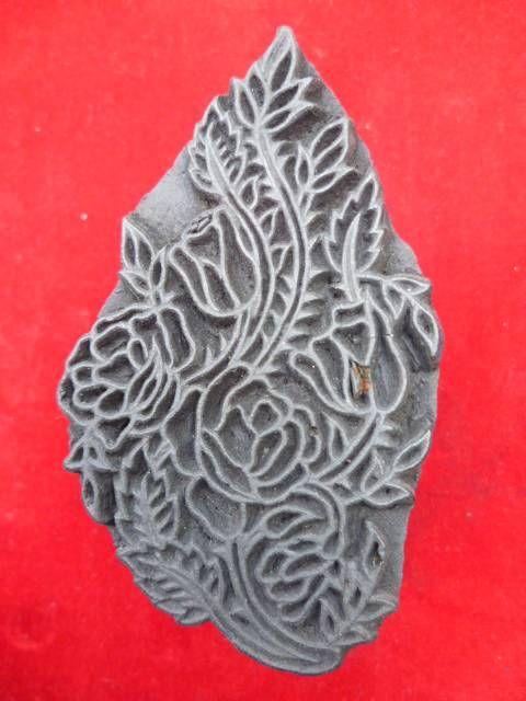 indischer Holzstempel Blume 6