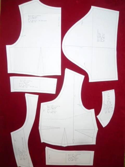 Sariblusenschnitt in 7 Grössen