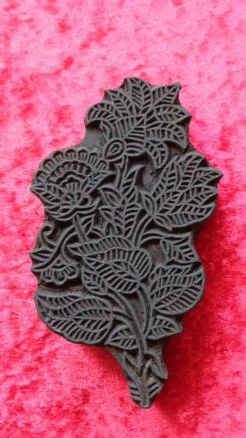 indischer Holzstempel - schöne Blume II