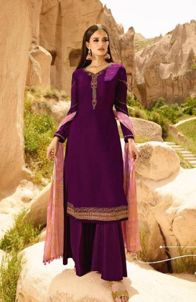 Salwar Kameez Zahira violett - Stoffset / Anfertigung