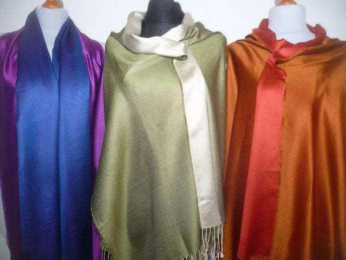 Seidenschals Supersilk zweifarbig - 15 Farben