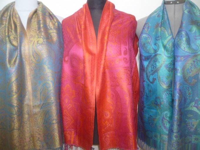 Elegante Seidenschals Jamawar - S II - 7 Farben