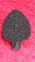 indischer Holzstempel Baum Fine Work II