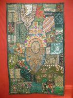 Wandbehang Heavy work dunkelgrün