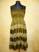 Kleid Gypsy Seide oliv