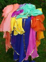 Bauchtanzschleier Zweite Wahl - viele Farben