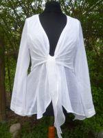 Bluse Fancy aus weissem Baumwoll-Voile