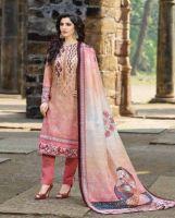 Salwar Kameez Vintage beige-rot
