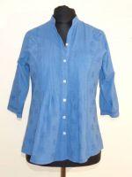 Baumwoll-Bluse im Tunikastil Kya blau
