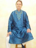Kurta-Pajama-Set 2-teilig blau