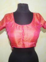 Saribluse Choli pink mit Goldbrokat II