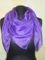 Feines Seidentuch in violett