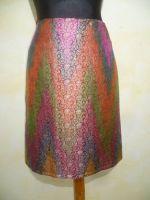 Seidenbrokatrock Classic mehrfarbig mit all-over-Brokat
