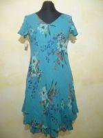 Sommerkleid Lalitia zweilagig türkis