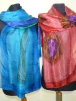 Feine Seidenschals in Aquarell-Design - 7 Farben