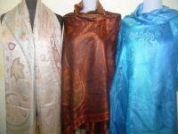 Elegante Seidenstola Jamawar - M - 11 Farben