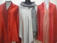 Seide-Viskose-Schals IV - drei Farben