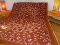 Tagesdecke Mandala rot-hellbraun